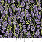 Lavender Market Northcott Quilt Fabric by 1 2 yard Twigs on Black 20291 99