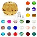 5040 100Pcs Crystal Czech Loose Glass Rondelle 6mm Faceted Beads For Bracelet
