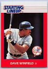 1988  DAVE WINFIELD - Kenner Starting Lineup Card - NEW YORK YANKEES