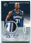 2004-05 SP Game Used Authentic Patches Autographs Kevin Garnett Patch Auto 10 50