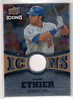 2009 Upper Deck Icons Icons Jerseys Gold Andre Ethier Jersey 17 25