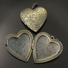 2pcs Antiqued Bronze Vintage Brass Love Heart Locket Pendant Charms 06968