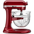 Kitchenaid Design Pro 600 Stand Mixer kf26m22ca 6-Qt Glass Bowl Candy Apple Red