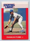 1988  FRANKLIN STUBBS - Kenner Starting Lineup Card - Los Angeles Dodgers