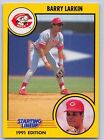 1991  BARRY LARKIN - Kenner Starting Lineup Card - CINCINNATI REDS - Vintage