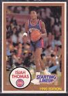 1990  ISIAH THOMAS - Kenner Starting Lineup Card - Detroit Pistons - Blue