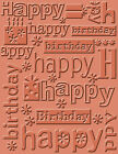 Cuttlebug A2 Embossing Folder Happy Birthday
