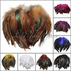 New 100pcs Fluffy Fashion Rooster Feather Fringe Decoration Home Craft DIY 6 8