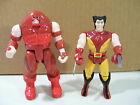 LOT OF 2 VINTAGE X MEN ACTION FIGURES WOLVERINE  JUGGERNAUT 1991 TOY BIZ