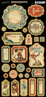 Graphic45 Chipboard GOOD OL SPORT 1 scrapbooking 27 PCS Vintage