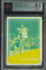 1972-73 TOPPS # 255 JULIUS ERVING RC BLUE-YELLOW PROOF BGS 8.5 UNIQUE