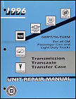1996 Chevy Geo Transmission Overhaul Manual Metro Tracker Prizm Cavalier Corsica