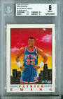 1991-92 FLEER # 4 PATRICK EWING PROOF BGS 8 SOLO FINEST 1 OPF 50 MADE *