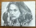 UFC CHAMP RONDA ROUSEY SKETCH CARD AUTO SIGNED ORIGINAL ART ACEO 1 1 ROWDY