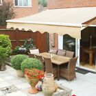 Outdoor 108 Manual Retractable patio deck awning sun shade shelter canopy tan