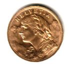 A BLAZER SWISS GOLD 20 FRANC 1927 NICE GEM BU BLAZERS & AN OLDER DATE NEAR MELT