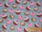 Petite Cup Cakes Cup Cakes Fleece Fabric by the Yard BTY