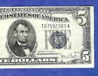 1934D $5 Blue Choice Crisp SILVER Certificate Choice Crisp VF! Old US Currency!