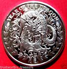 2012 YEAR OF DRAGON Somaliland 1 oz .999 silver coin 1000 shillings in airtite
