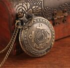 antique Classic united states coast guard Vintage Steel  Pocket watch necklace