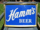 1950'S Vintage Hamm's Reverse ON Glass Beer 2 sided Sign