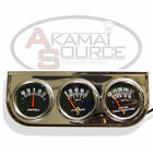 Automotive RACING Triple Gauge Kit Amp Water Temp Oil Car & Truck Parts Gauges