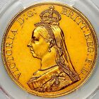 1887 VICTORIA GREAT BRITAIN GOLD FIVE POUNDS £ 5 SOVEREIGN £5 COIN PCGS AU58