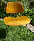 ORIGINAL VINTAGE 1950s EAMES MOLDED PLYWOOD DINING CHAIR (DCM) METAL LEGS RARE!