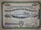 1950's Pittsburgh & Lake Erie Railroad Comp authentic stock certificate