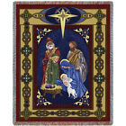 70x54 NATIVITY Jesus Religious Christmas Holiday Tapestry Afghan Throw Blanket