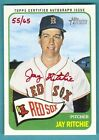 2014 Topps Heritage Jay Ritchie Red Ink Autograph Red Sox 55 65
