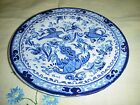 BLUEBIRD BURLEIGH ENGLAND CUTHBERTSON PORCELAIN PLATE 6 1/8 BLUE AND WHITE