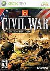History Channel Civil War A Nation Divided XBOX 360! WARFARE, BATTLEFIELD, UNION