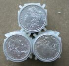 THREE ROLLS (60 COINS) PRE 1921 MIXED DATE  MORGAN SILVER DOLLARS ..AU/BETTER