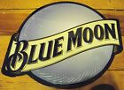 Blue Moon Sign Beer Embossed Die Cut Bar Brewery Advertising Metal Tin
