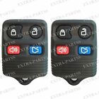 2 New Replacement Keyless Entry Remote Key Fob Clicker Transmitter Control