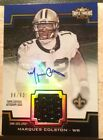 Marques Colston 90 2011 Topps Triple Threads Auto Game Used Unity Jersey Patch