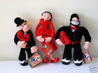 POPEYE THE SAILORMAN & PALS OLIVE OYL & BRUTUS BE MINE VALENTINE PLUSH DOLL SET