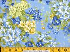 Moda Fabric ~ SUMMER BREEZE ~ French Country Blue W/ Yellow Rose 32590-13