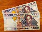 Sierra Leone (West Africa) Banknotes: 2 * 5,000 Leones (2010) RESIZED/ UNC/ 5000