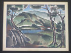 JAMES KIMO MARTIN (b.1918) CALIFORNIA VINTAGE AMAZING WPA ERA LANDSCAPE PAINTING