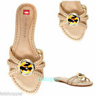 NEW 6 M ELAINE TURNER Macys Hillary Leather Slides Tortoise Jeweled Flat Sandals