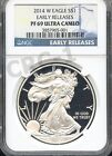 2014 W SILVER EAGLE EARLY RELEASES NGC PF69 ULTRA CAMEO BLUE LABEL