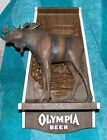 VINTAGE OLYMPIA BEER MOOSE SIGN WILDLIFE SERIES OLYMPIA BREWING CO. OLYMPIA WASH