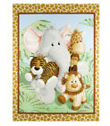 A JUNGLE BABIES COTTON QUILTING FABRIC PANEL BY PATTY REED