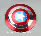 Custom Captain America Metal Electroplated Shield 1/6 Fit for 12