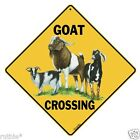 Goat Metal Crossing Sign 16 1 2 x 16 1 2 Diamond shape made in USA 195