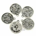 7pcs Antique Alloy  Coin Charms Pendant Jewellery Finding 21*18mm 41746
