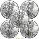 Lot of 5 Coins 2014 1 oz American Silver Eagle GEM BU Coins 999 Fine Silver