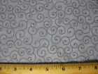 Tilt a whirl blue Fabric 5 yd yards 44x180 swirls curly q swirl cotton B